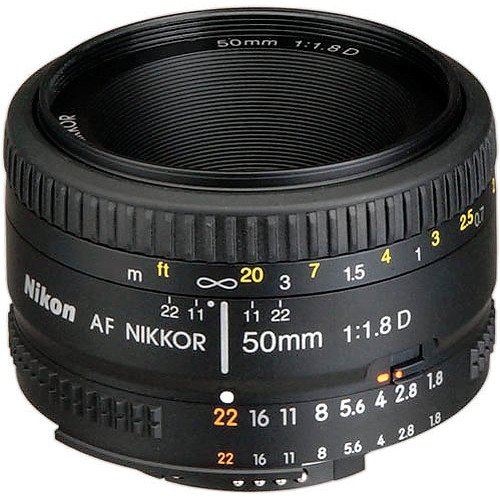 Nikon AF FX NIKKOR 50mm f/1.8D Lens with Auto Focus for Nikon DSLR Cameras (Renewed) (Best Nikon F3 Focusing Screen)