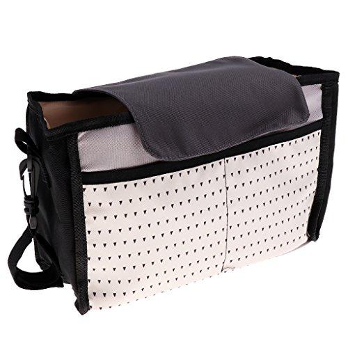 Fenteer Stroller Buggy Baby Nappy Changing Diaper Bag Mummy Shoulder Bag Multifunction - Pink, as described Pink