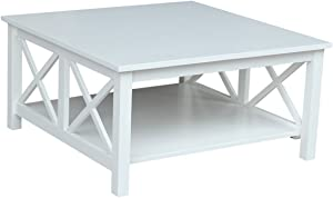 International Concepts Square Coffee Table, White