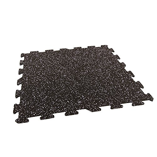 IncStores Energy Rubber Tile Flooring Equipment Mats (Confetti 25 Tiles, 100 Sqft)