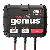 NOCO Genius GEN2 12V Plus 12V 2-Bank 20-Amp Smart On-Board Waterproof Battery Charger