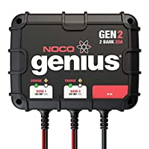 NOCO Genius GEN2 12V Plus 12V 2-Bank 20-Amp Smart On-Board Waterproof Battery Charger