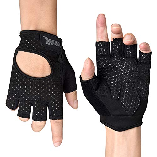Citoor Cycling Gloves Women Men Breathable Workout Gym Training Weight Lifting Bike Gloves Shockproof Padded