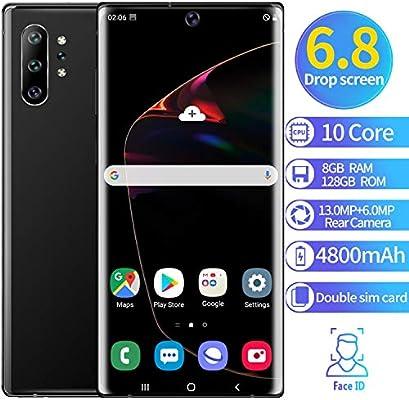 XGLL Teléfono Móvil 6.5 Pulgadas FHD 10 Core 8GB RAM + 128GB ROM Android 9.1 4800Mah Batería Dual SIM Moviles Libres Indestructibles Smartphone,Negro: Amazon.es: Hogar