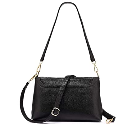 12d6cd61187d Amazon.com  Women Shoulder Messenger Bags Genuine Leather Handbag Female  Crossbody Bag Ladies Solid Small Tote Bag Purse  Computers   Accessories