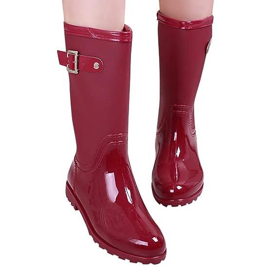 LoveLeiter Damen Langschaft Gummistiefel Regenstiefel