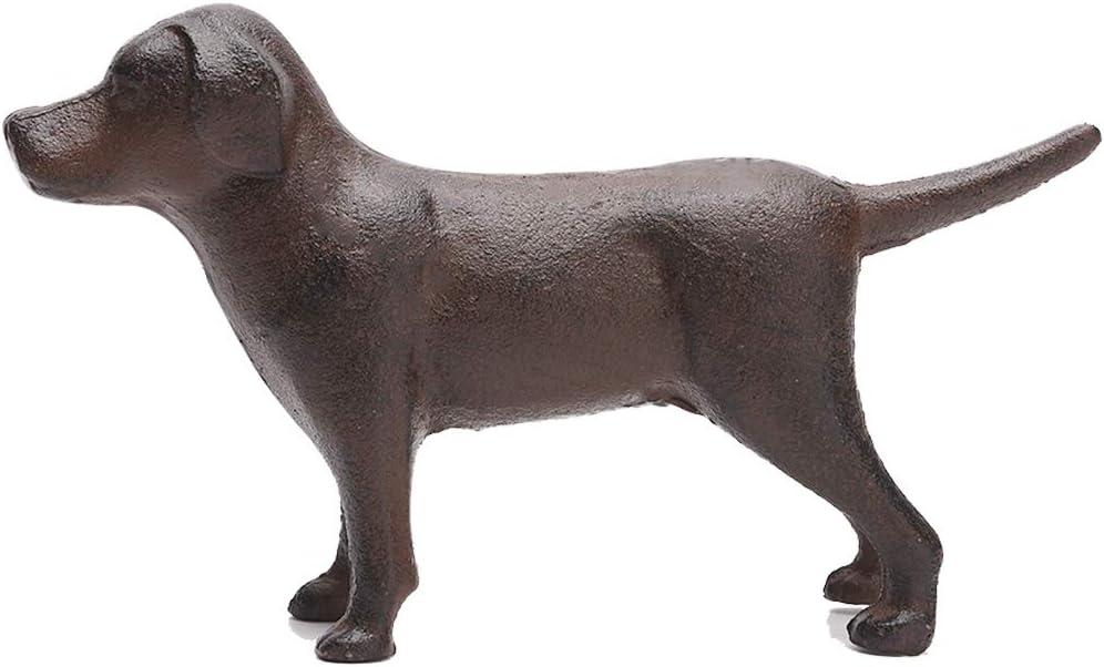 BRASSTAR Cast Iron Dog Statue Garden Home Desk Decor Cute Labrador Figurine Collectible Gifts PTWQ005