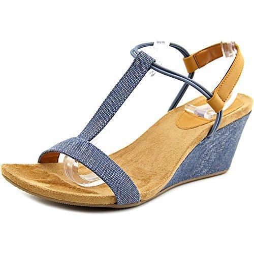 Style & Co Mulan Women US 7 Blue Wedge Sandal (Mulan Blue Dress)