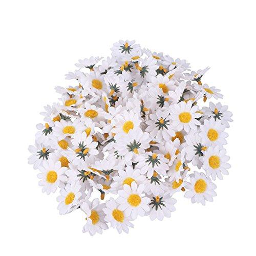 Memoriesed 100Pcs Artificial Gerbera Daisy Flowers Heads Diy Cake/Wedding Decoration Artificial Flowers Craft 2