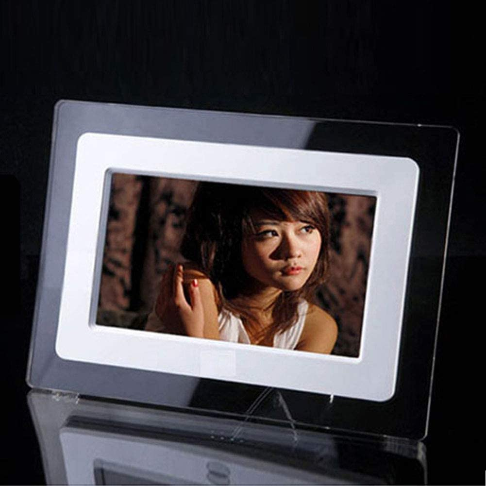 4:3 Digital Picture Frame 7 Inch 1024 600 Resolution Display,Preview Function Delete Picture Remote Control Photo Music Video Support USB SD Card