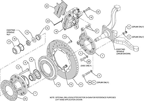 new wilwood complete front & rear disc brake kit with lines