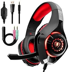 ゲーミングヘッドセット PS4 Beexcellent ヘッドセットPC ゲーム用ヘッドホン 高集音性マイク付