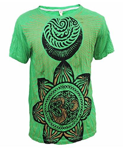 Yoga Shirts - Omtimistic Men's Hindu Aum 'Flower