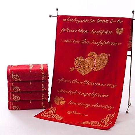 QUEENS Toalla de algodón boda con amor eterno bodas/Par dos regalos de boda Toalla Especificaciones ...