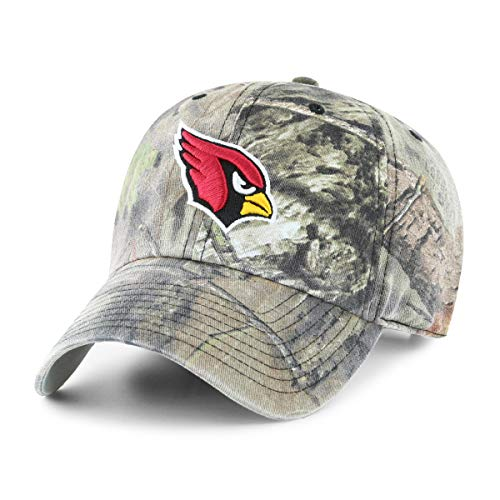 OTS NFL Arizona Cardinals Male Mossy Oak Challenger Adjustable Hat, Mossy Oak-Break Up Country, One Size ()
