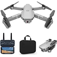 Foldable Mini Drone with 4K Camera 2.4G WiFi FPV RC Quadcopter (Silver) Gesture Control with Portable Carry Bag, 3…