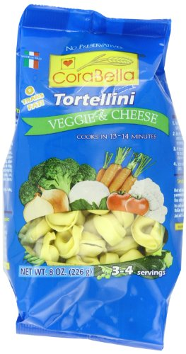Corabella Tortellini, Veggie and Cheese,8 Ounce (Pack of 12)