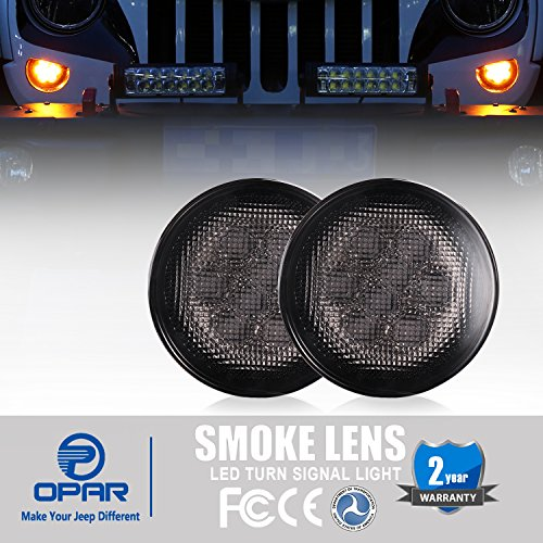 Opar Front Turn Signal for 07-18 Jeep Wrangler JK & Wrangler Unlimited