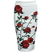 Oficina Imprimir lápiz midi falda para mujer Wear