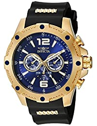 Invicta Men's 19659 I-Force Analog Japan Movement Black-Gold Watch
