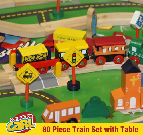 Amazon.com Conductor Carl Train Table \u0026 Play Board Set (80 Piece) Toys \u0026 Games & Amazon.com: Conductor Carl Train Table \u0026 Play Board Set (80 Piece ...