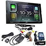 JVC KW-M740BT Apple CarPlay, Android Auto 2-DIN (No CD) with Back up Camera