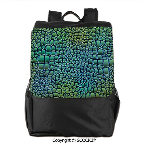 (Waterproof School Bag,Alligator Skin African Animal Crocodile Reptile Safari Wildlife Vibrant Artwork,Backpacks School Travel Womens & Mens,19 OZ)