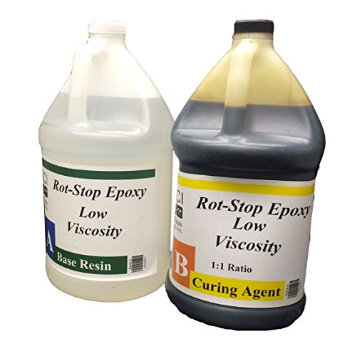 Epoxy Polyester Resin (Rot Stop Epoxy Resin, 2 Gallon Kit, Includes Part A & B)