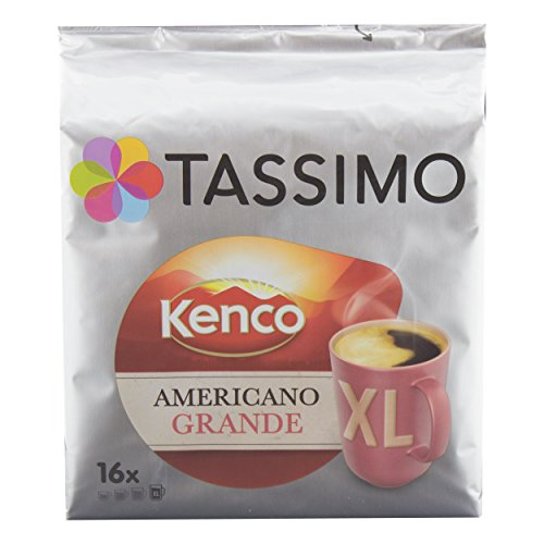 - Tassimo Americano Grande XL, Aromatic & Professional Roast, Roasted Coffee, Capsule, 16 Portions