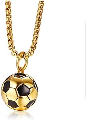 Colgante de acero inoxidable de futbolín de oro, joyería para ...