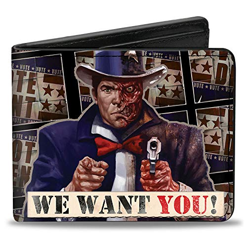 Bi-Fold Wallet - Uncle Two-Face WE WANT YOU!/VOTE DENT Poster -
