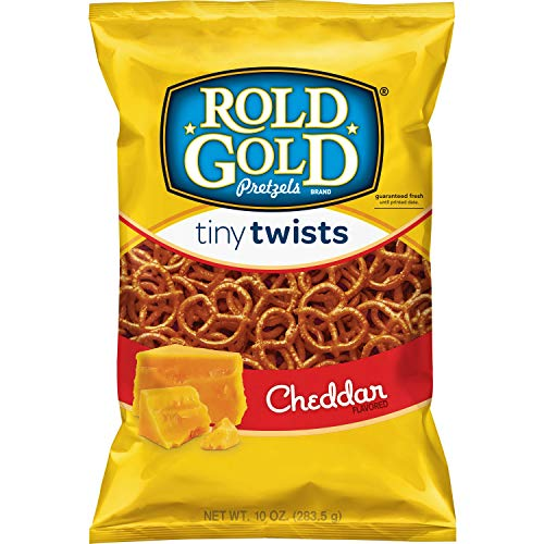 - Rold Gold Cheddar Flavored Tiny Twists Pretzels, 10 Ounce