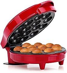 Holstein Housewares HF-09014R Cake Pop Maker, Red/Stainless Steel