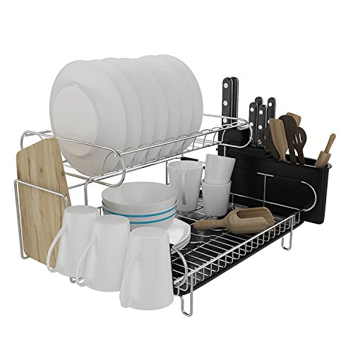 Fast2-Tier Dish Rack Stainless Steel Kitchen Dish Drying R