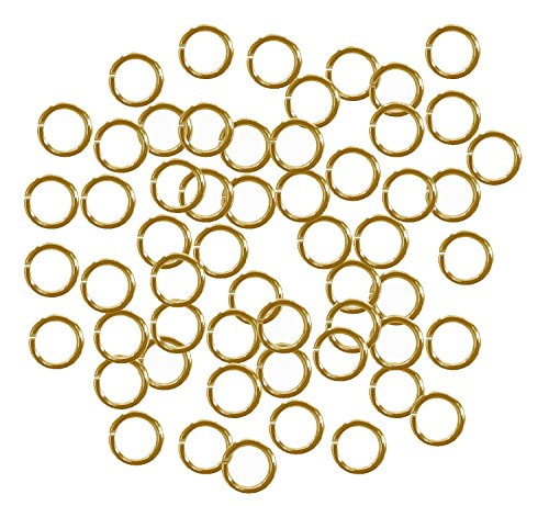 Rockin Beads 400 Jump Rings Gold Plated Brass 6mm Round 18 Gauge Jewelry Connectors Chain Links Brass Gold Plated Ring