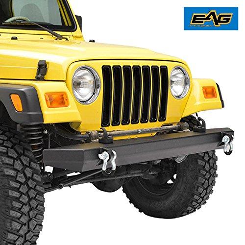 E-Autogrilles 51-0007 Black Front Bumper (87-06 Jeep Wrangler TJ/YJ  Textured Off Road)