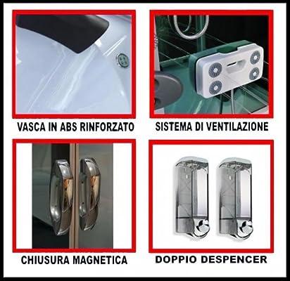 Cabina y bañera de hidromasaje 90 x 90 Mampara de ducha con SAUNA Cromoterapia y manos libres: Amazon.es: Bricolaje y herramientas