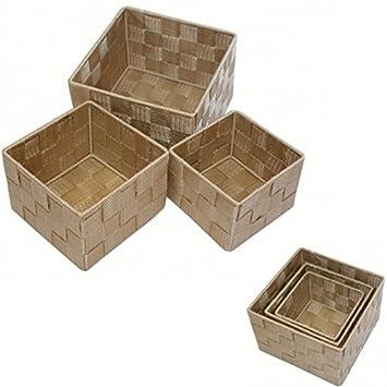 3er Set Aufbewahrungsbox Badezimmer Truhe Box Korb Polypropylen ...