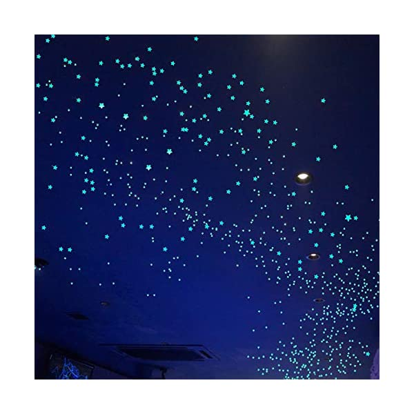 Glow in The Dark Stars for Ceiling 633 Pcs Realistic 3D Stickers Starry Sky Shining Decal Decoration Perfect for Kids Bedroom Bedding Room Gifts