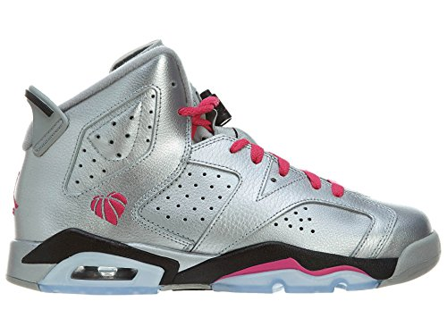 Nike Air Jordan Retro 6 OG Basketball Girl Shoes Silver/B...