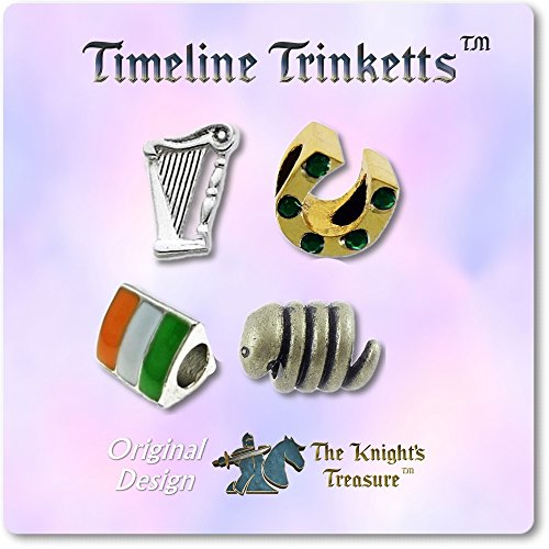 European Charm Bracelet Charms and Beads For Women and Girls Jewelry, Lucky Irish Green by Timeline Treasures (Image #5)