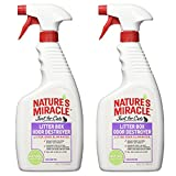 Nature's Miracle Just for Cats Litter Box Odor Destroyer, Unscented, 24-Ounce Spray (P-5552)