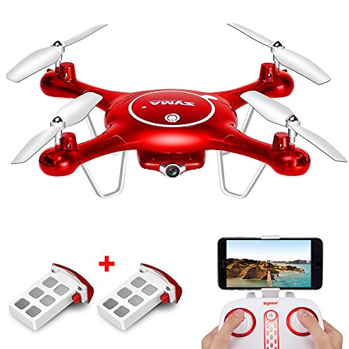 SYMA-X5UW-WIFI-FPV-Drone-with-720P-HD-Camera-Altitude-Hold-RC-Quadcopter-RTF-with-Extra-Battery