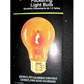 flickering light bulb orange 1 5 watt almost looks like flames perfect for christmas time. Black Bedroom Furniture Sets. Home Design Ideas