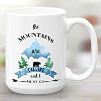 The Mountains Are Calling And I Must Go, Large 15oz Coffee Mug