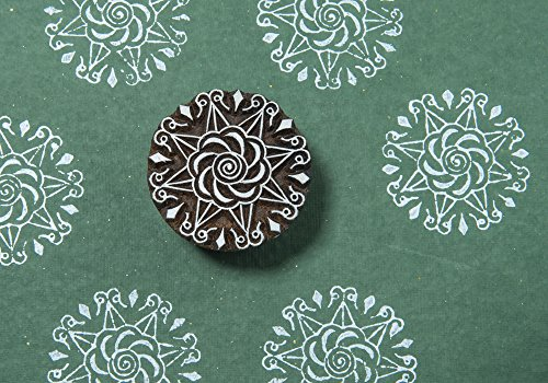 Blockwallah Chakra Pattern Wooden Block Stamp