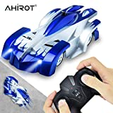 AHIROT Wall Climbing RC Car Remote Control Car Toy, USB Rechargeable Gravity Defying RC Car with Update Remote Control, 360°Rotating Stunt for Boy Girl Kids Ideal for Birthday Gift (Blue)