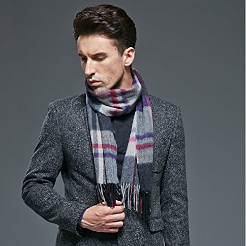 Autumn and winter warm men pure cashmere scarf scarf thickening by KYXXLD
