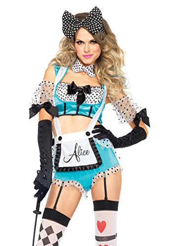 Leg Avenue Women's 5 Piece Vixen Alice Costume, Multi, Medium]()