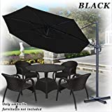 Strong Camel 11.5′ Deluxe Off-Set Hanging Roma Offset Umbrella Tilt & 360 Rotation Patio Heavyduty Outdoor Sunshade Cantilever Crank black Review